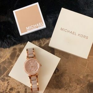 Micheal kors watch women rose gold with gift